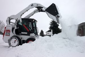 KCR Bobcat Working to clear snow